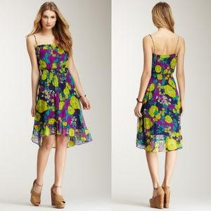 Ella Moss | 100% Silk Rosa Floral Summer Dress S